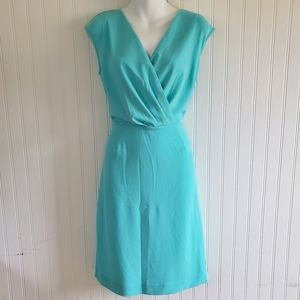The Limited Aqua Surplice Dress Size Medium